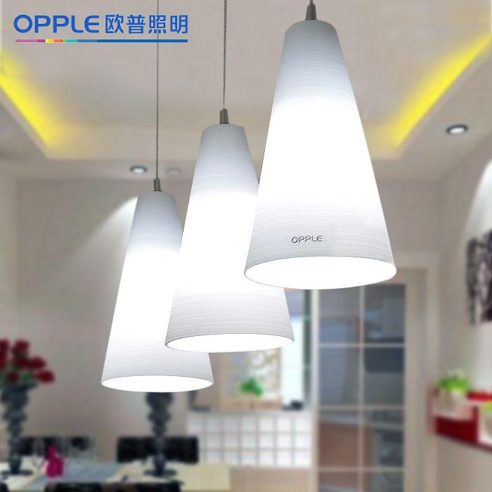 欧普照明玻璃铁简约现代节能灯-*(雅洁)吊灯