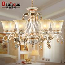 铁水晶玻璃树脂欧式白炽灯节能灯LED 508/8吊灯