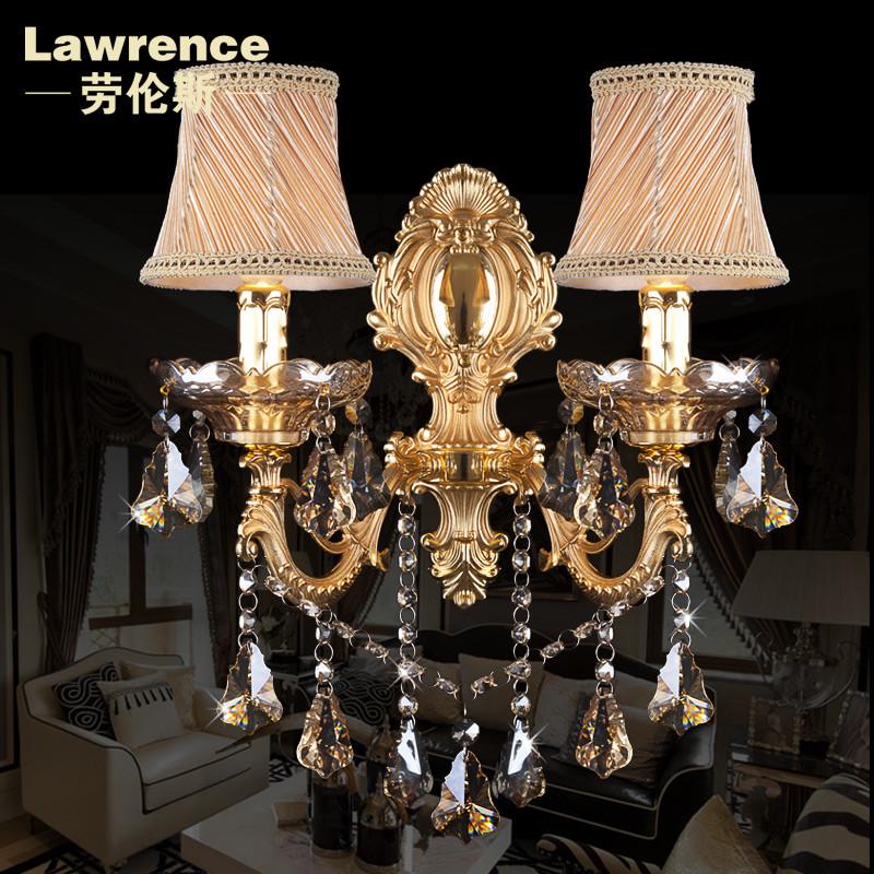 劳伦斯布合金欧式镀铬白炽灯节能灯壁灯