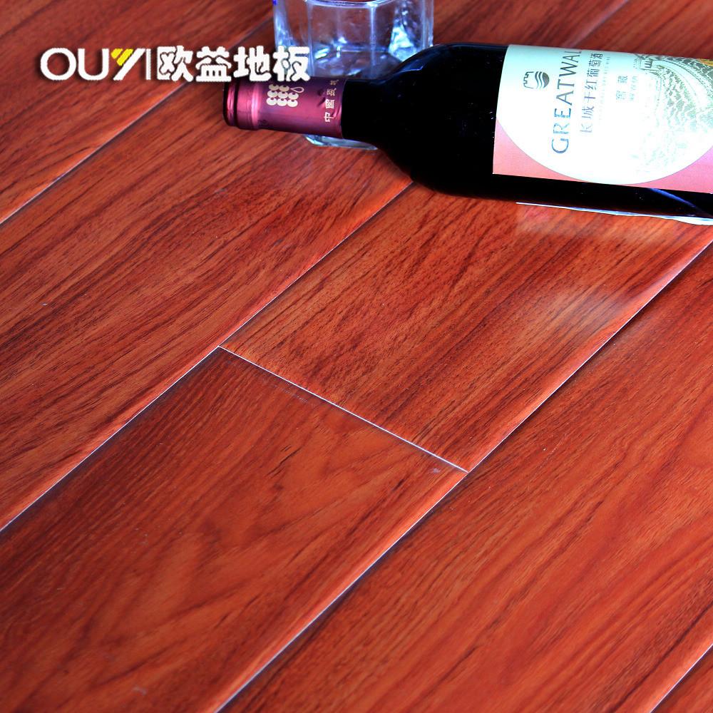 欧益欣耐红檀香高密度纤维板双锁口地板