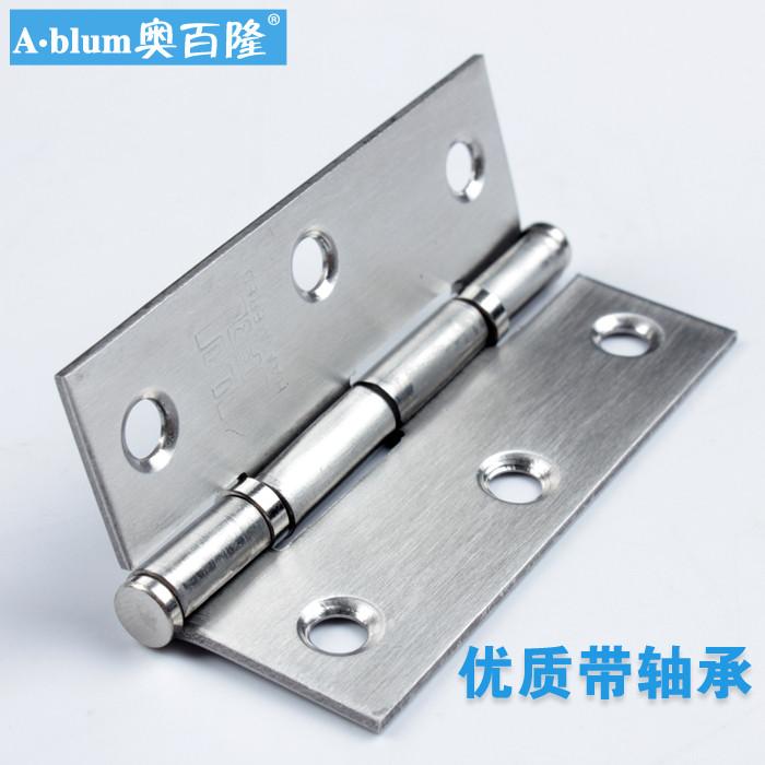 奥百隆 不锈钢固定式液压缓冲铰链滑入式 门窗配件铰链