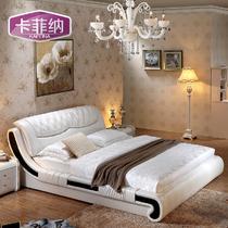 木接触面真皮漆光组装方形简约现代 K062床