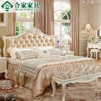 橡木框架结构组装式箱体hj01床欧式雕刻 床