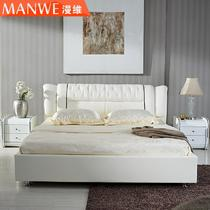 木接触面真皮磨砂组装方形简约现代 MWC-09床