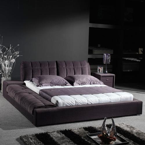 啊点生活木组装式架子床复合面料方形简约现代床