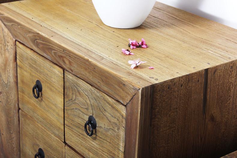 铮舍12屉10屉8屉6屉无箱框结构榆木储藏抽象图案成人新古典 床头柜
