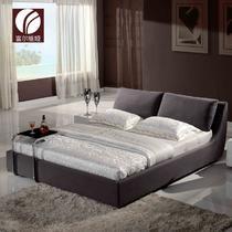 木复合面料方形简约现代 床