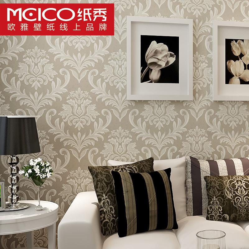纸秀浮雕有图案客厅卧室欧式墙纸