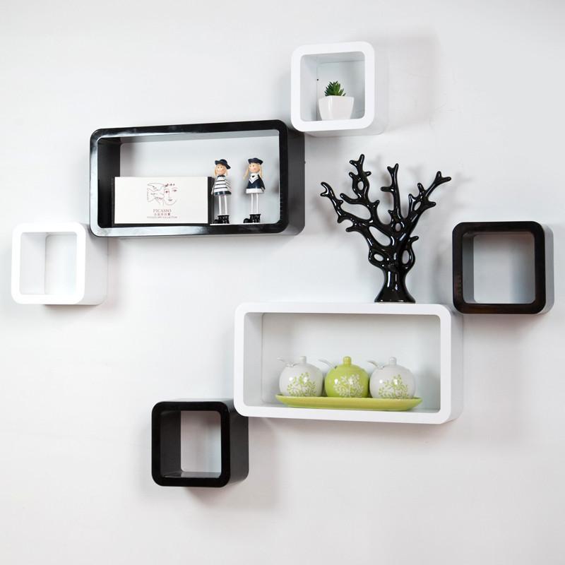 宜尚空间 人造板特殊造型密度板/纤维板木质工艺拼板抽象图案成人田园 创意格子隔板搁板置物架壁柜