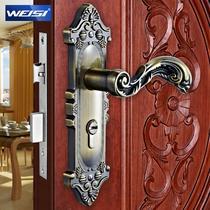 通用型象牙白黄古铜哑青古锁室内门锌包铜双锁舌 锁具