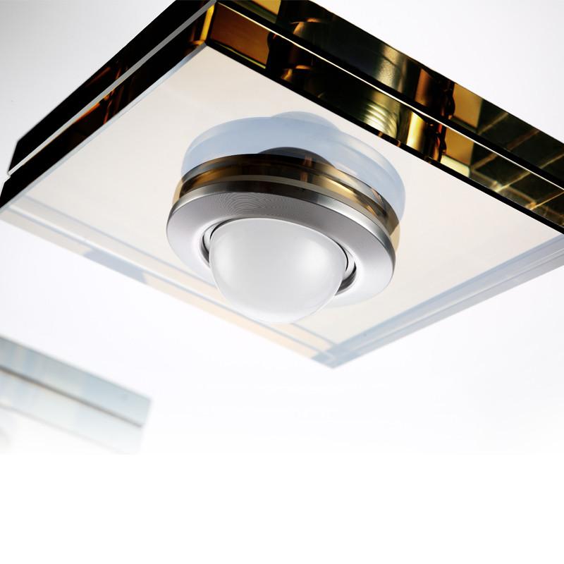 汉斯威诺 水晶不锈钢欧式镀铬圆形LED 吸顶灯