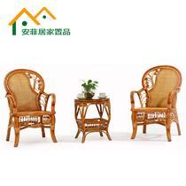 茶几椅子2椅子+茶几植物藤框架结构移动艺术成人新古典 藤椅