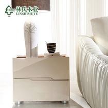 杏色亮光储藏成人简约现代 床头柜