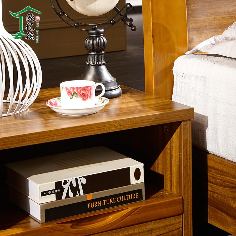 欧亿德图片色柚木成人现代中式床头柜