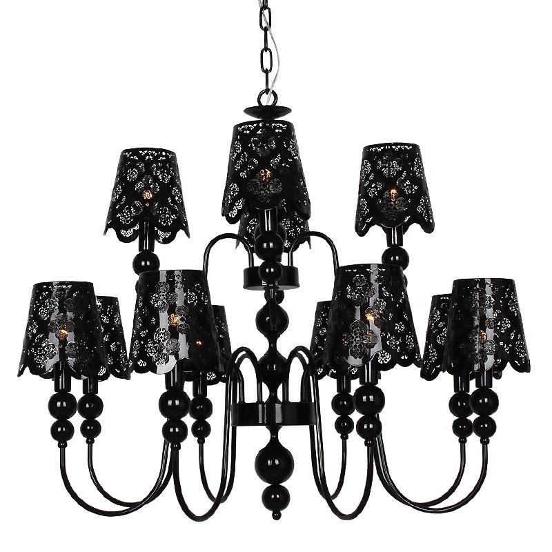 埃弗顿 黑色欧式铁艺灯 md1005-8 4吊灯