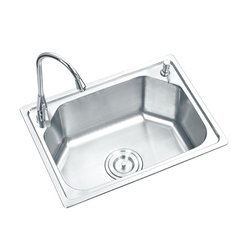 格璐斯 拉絲銀304不銹鋼拉絲工藝,一體成型雙槽水槽 水槽