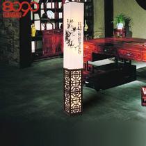 PVC木现代中式节能灯 L1125落地灯