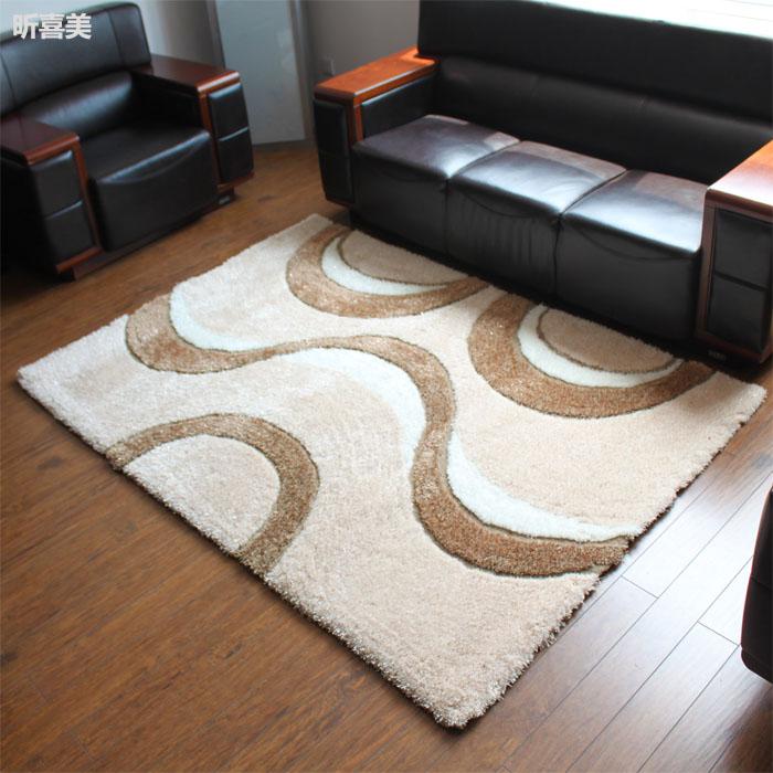 昕喜美 混纺简约现代几何图案正方形欧美手工织造 地毯