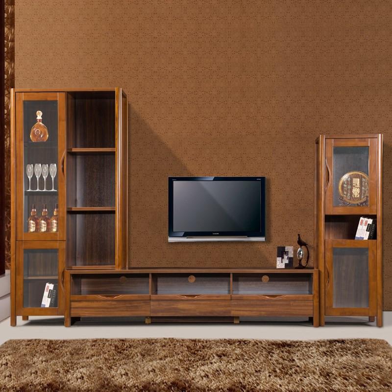 安惠 哑光喷漆框架结构橡木储藏成人现代中式 电视柜