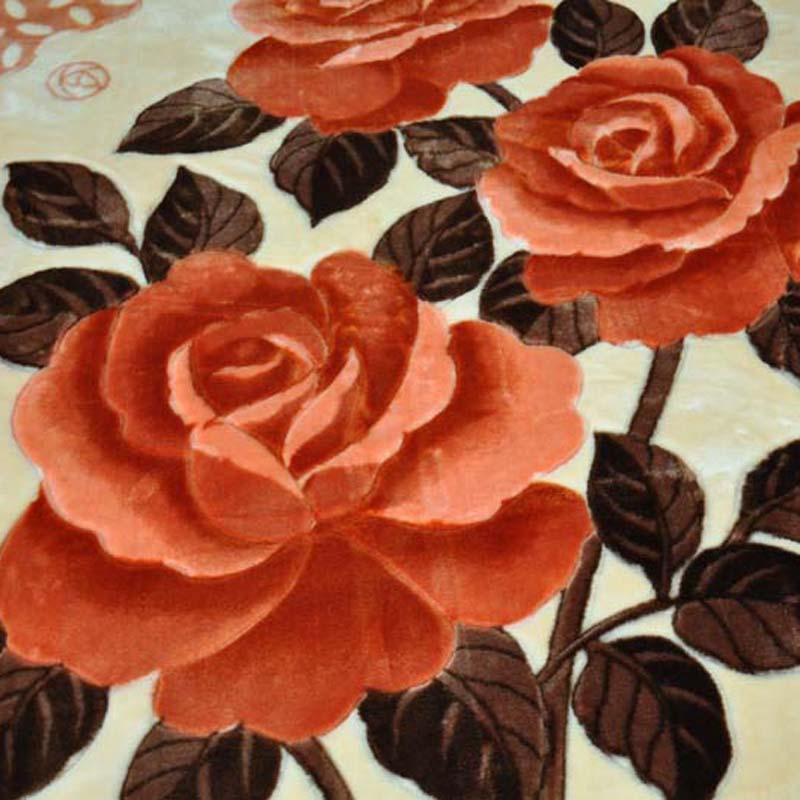 美雅 5%拉舍尔MT1223-3.5-2毛毯一等品冬季植物花卉简约现代 毛毯