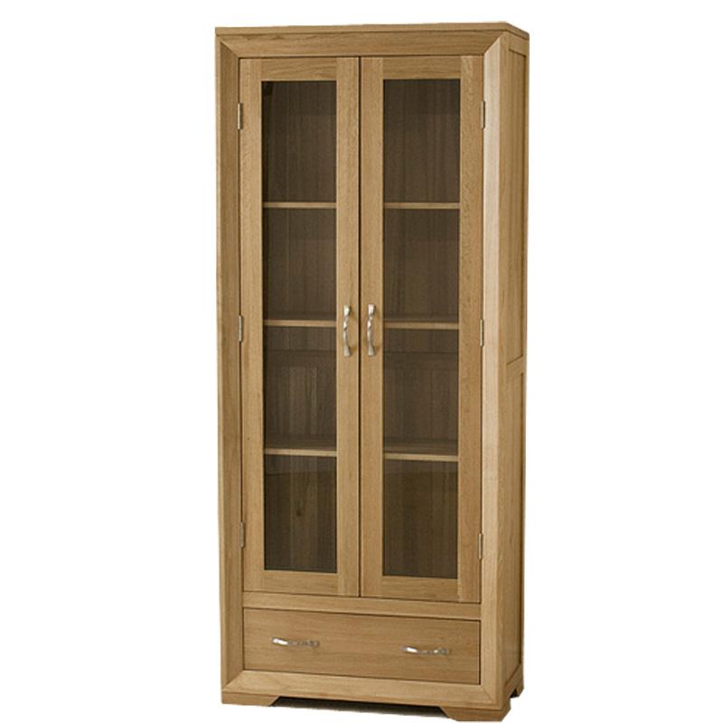 zerun 原木色框架结构橡木多功能欧式 酒柜