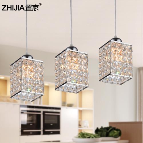 置家灯饰水晶简约现代白炽灯节能灯吊灯
