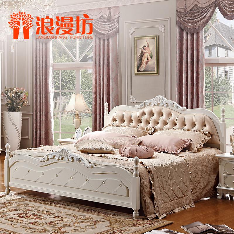 浪漫坊橡木框架结构欧式雕刻床