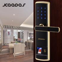 指纹锁锌合金真金银色咖啡棕红古铜直流电 锁具