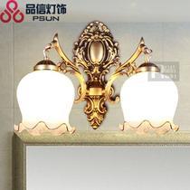 玻璃铁简约现代喷漆磨砂白炽灯节能灯LED 823/2W壁灯