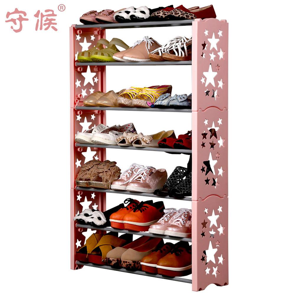 守候 切割鋼金屬工藝支架結構拆裝字母韓式 鞋架