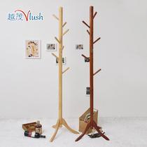 木质工艺旋切不规则体结构橡胶木拆装成人简约现代 衣帽架