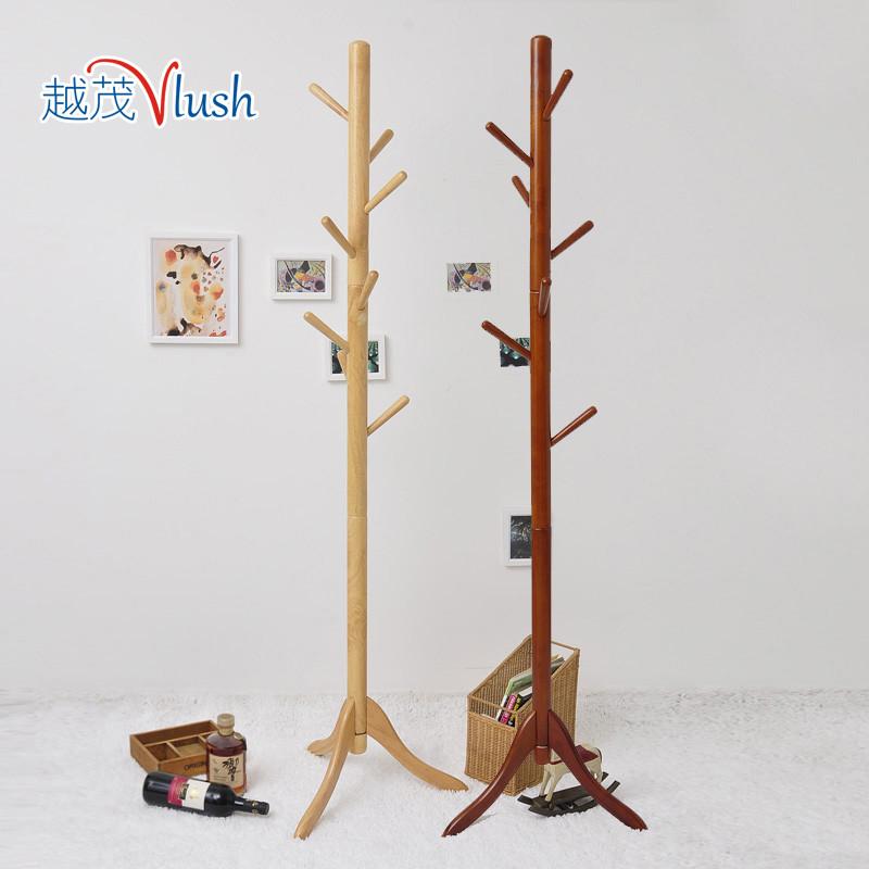 越茂木质工艺旋切不规则体结构橡胶木拆装成人简约现代衣帽架