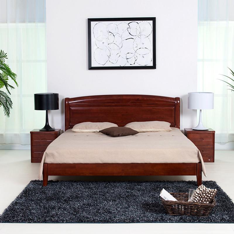 栗色组装式架子床简约现代