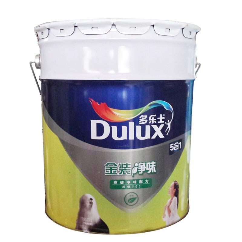 多樂士 面漆啞光 多樂士金裝五合一超低VOC凈味墻面漆18L涂料