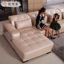 接触面真皮L形木质工艺储藏海绵艺术简约现代 沙发