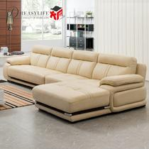 接触面真皮L形木质工艺柳桉木移动海绵简约现代 DL681沙发