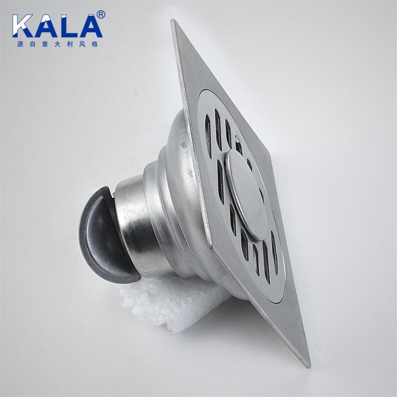 卡拉卡拉卫浴不锈钢方形-地漏