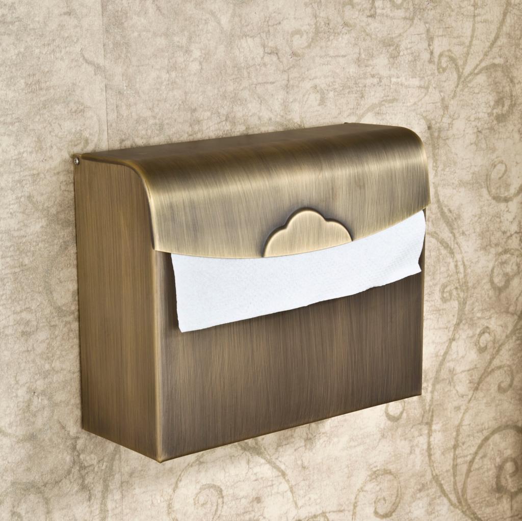 美姿洁铜上开盖式折纸置物架纸巾架