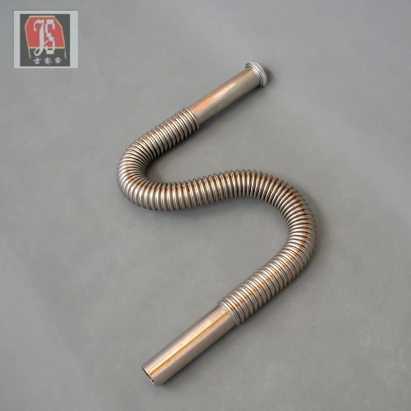 吉赛帝单不锈钢下水管根弯配件下水器