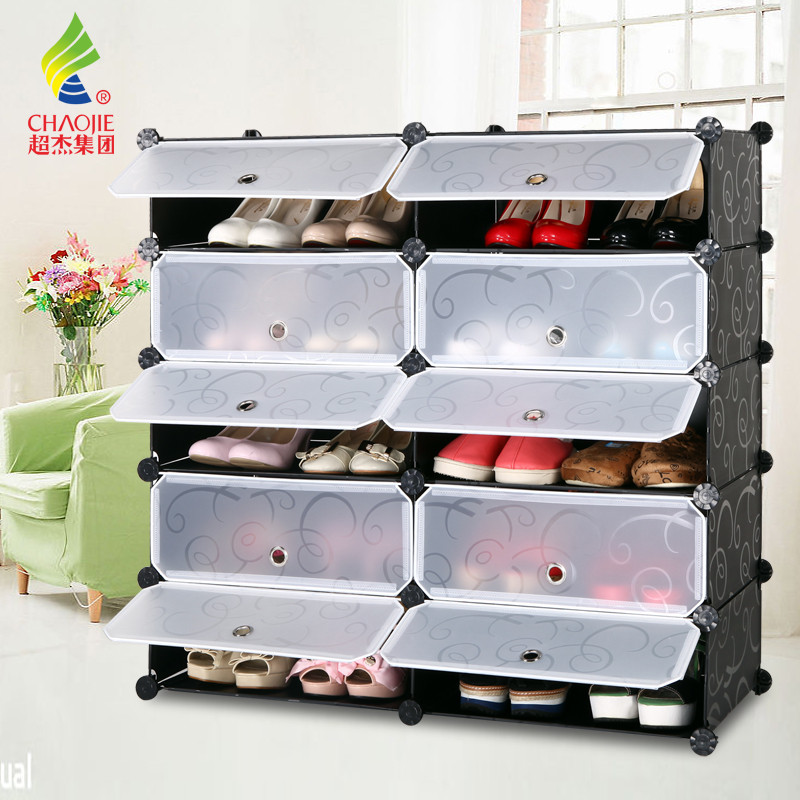 塑料箱框结构折叠翻开门植物花卉简约现代鞋柜