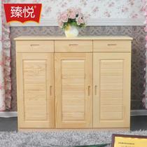 箱框结构松木储藏对开门艺术田园 鞋柜