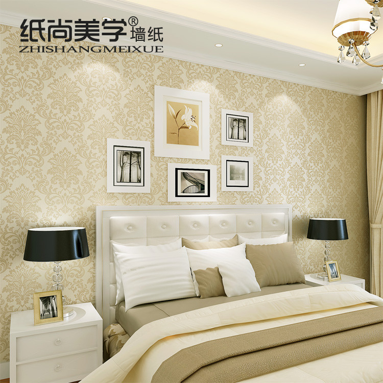 纸尚美学 压花有图案卧室欧式 GS50403墙纸