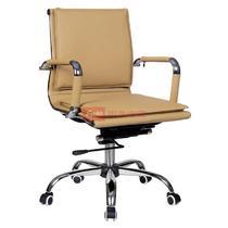 黄色系高弹性记忆海绵职工椅/电脑椅皮衣上海优质皮现代简约 椅子