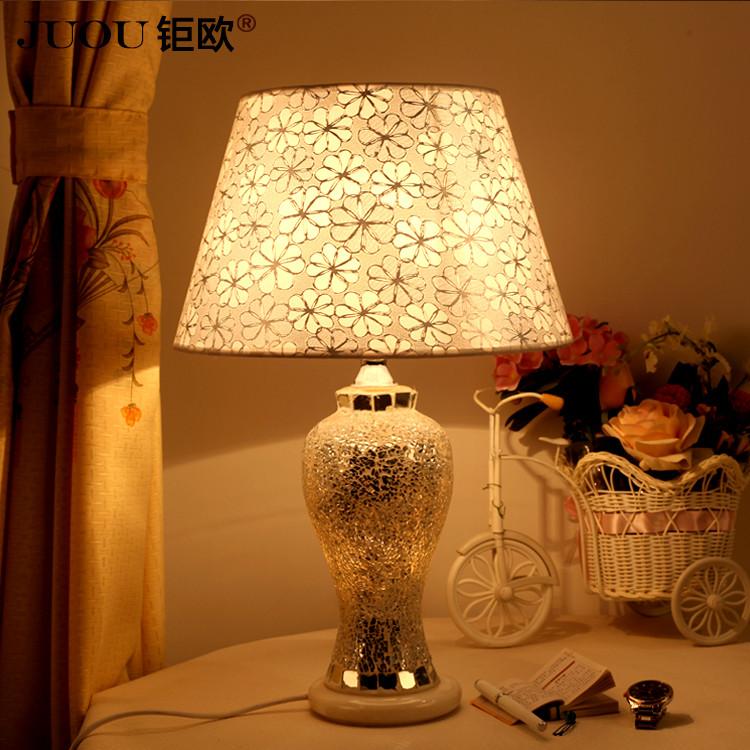 钜欧中式简约特价玻璃田园手工编织白炽灯节能灯台灯