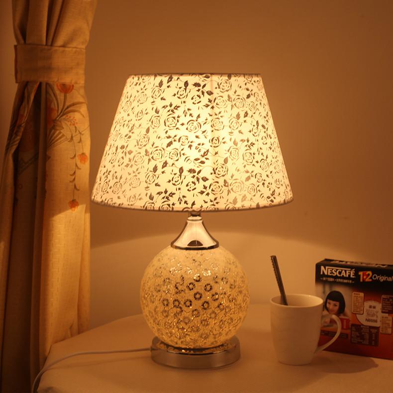 钜欧恬静之美特价玻璃田园手工编织白炽灯节能灯台灯