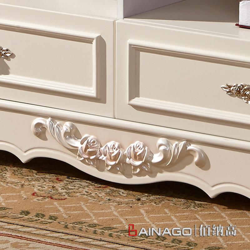 佰纳高 油漆工艺木质工艺烤漆雕刻橡胶木欧式 茶几