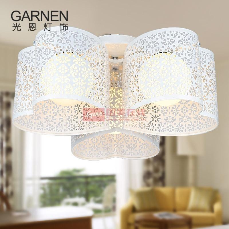 光恩 粉色│白色鐵│玻璃家裝風格:簡約現代客廳 臥室 吸頂燈