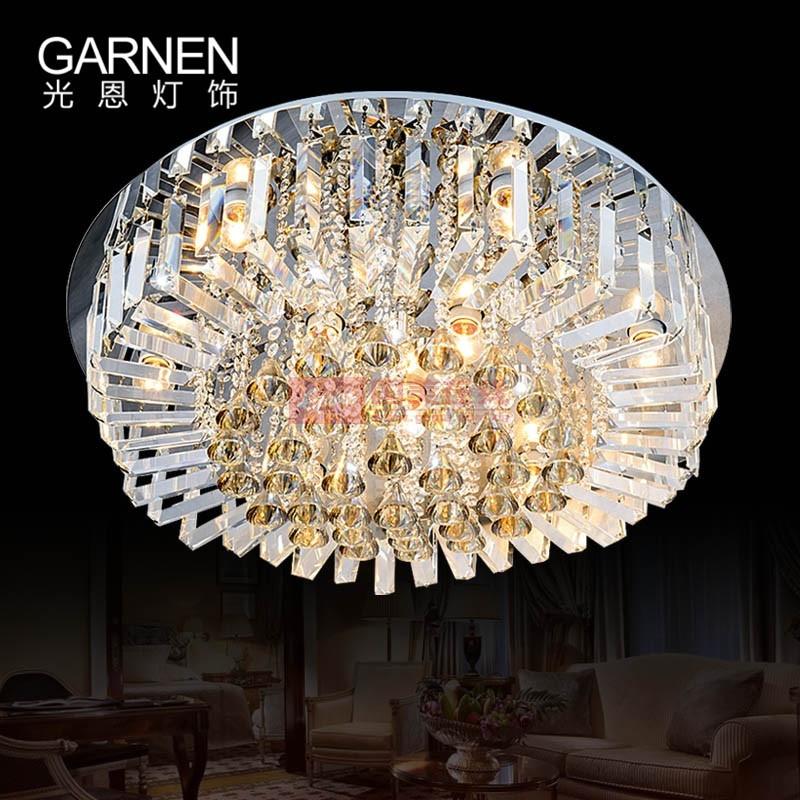 光恩 透明水晶│不銹鋼家裝風格:簡約現代客廳 臥室 吸頂燈