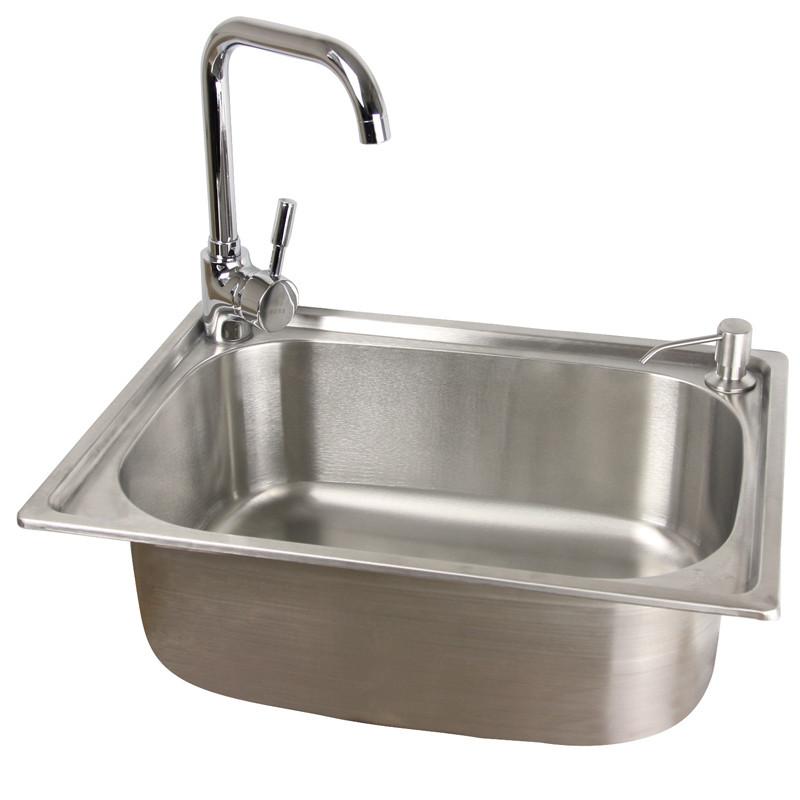 ?;赖?不锈钢色201不锈钢拉丝单槽YH-600水槽 水槽