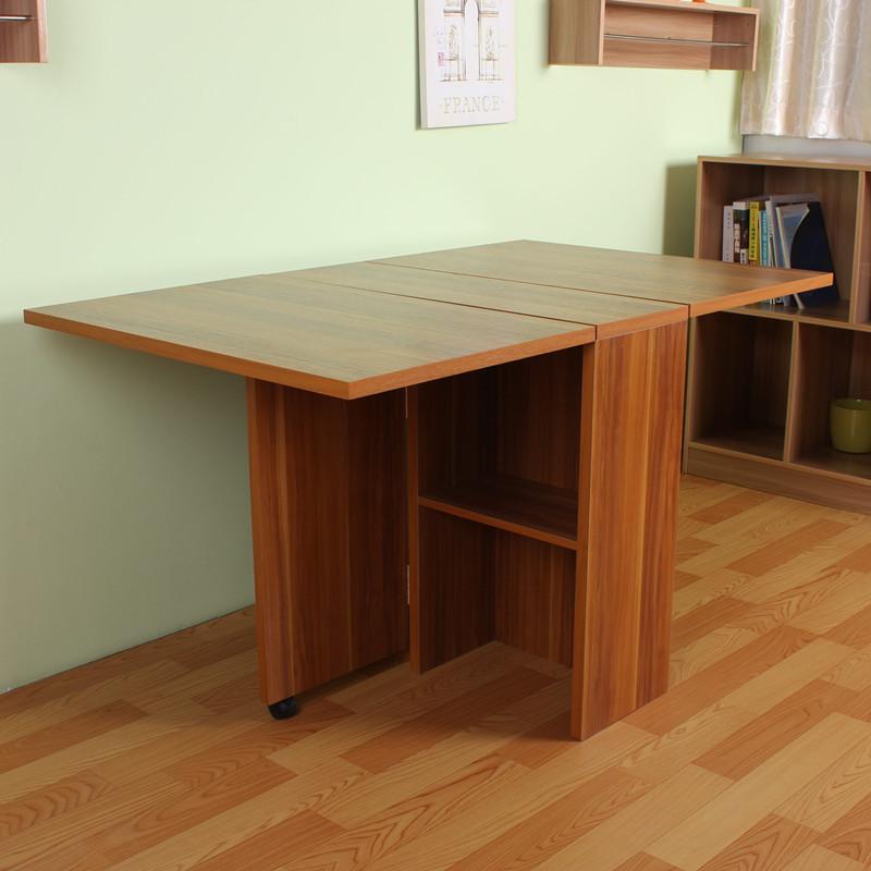 三喜隆人造板折叠组装刨花板三聚氰胺板木框架结构多功能长方形简约现代餐桌